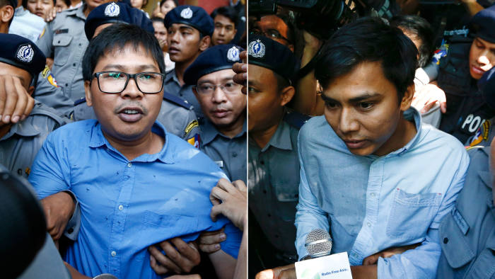 56a2eea3e34a Myanmar files charges against 2 Reuters journalists. Reporters arrested ...