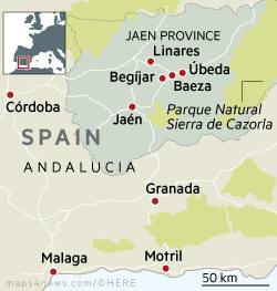 Map Of Spain Jaen.The Olive Oil Tourism Of Jaen Spain Financial Times