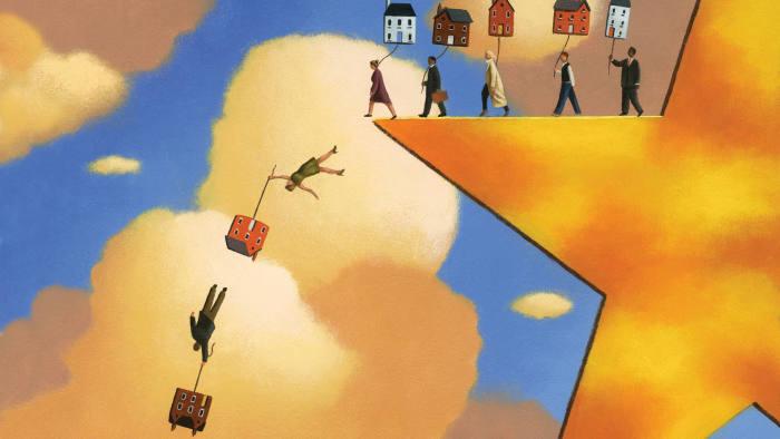 Illustration depicting UK property doom