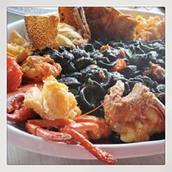 A dish of orecchiette with crawfish