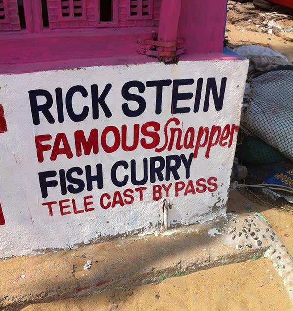 The restaurant promotes Rick Stein's endorsement