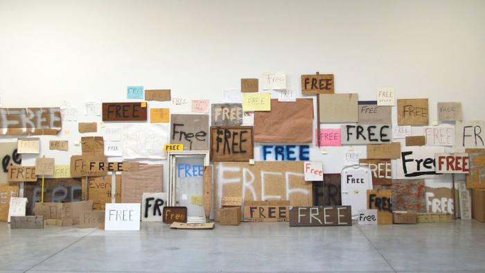 Peter Liversidge's 'Free Signs' (2010/11)