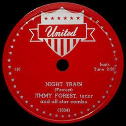 'Night Train' vinyl record