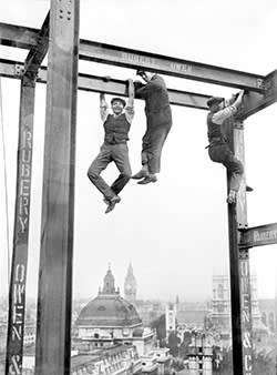 Construction workers in London, 1928