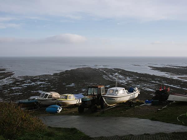 Boats in Robin Hood's Bay, near Whitby