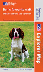 An Ordnance Survey personalised map