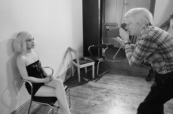 Debbie being photographed by Andy Warhol at the Factory