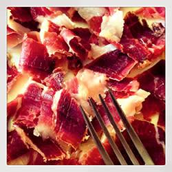 Pieces of Noir de Bigorre ham