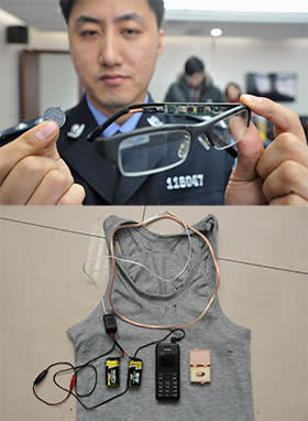 equipment used by Chinese students to cheat