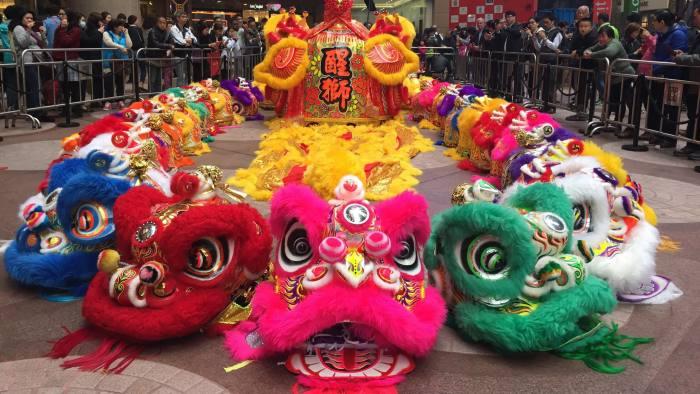 b67ab9401d4bf Hong Kong s  lions  dance for prosperity