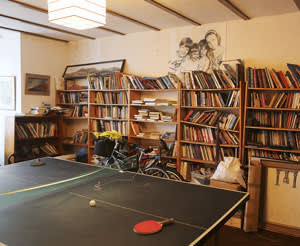 The library with table-tennis table