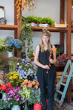 Hattie Fox in her florist's shop