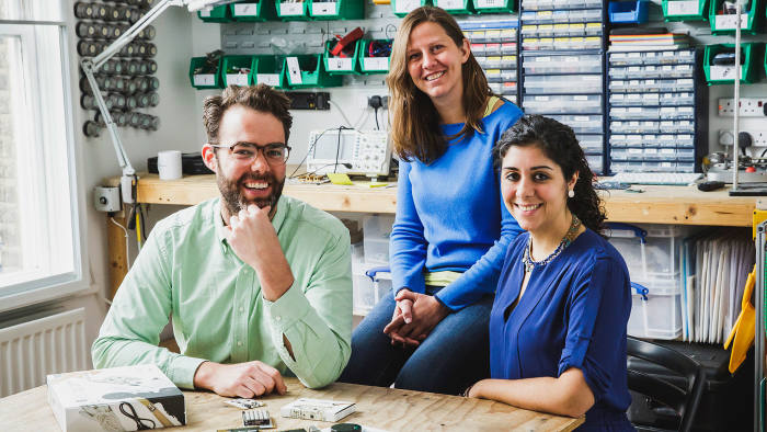 Bare Conductive's Matt Johnson, chief executive, Bibi Nelson, chief operating officer, and Isabel Lizardi, chief commercial officer