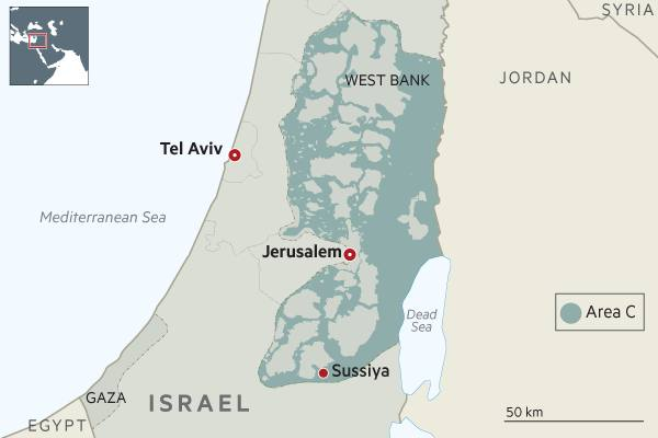 Map West Bank Area C