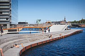 The new harbour bath at Kalvebod Brygge, Copenhagen