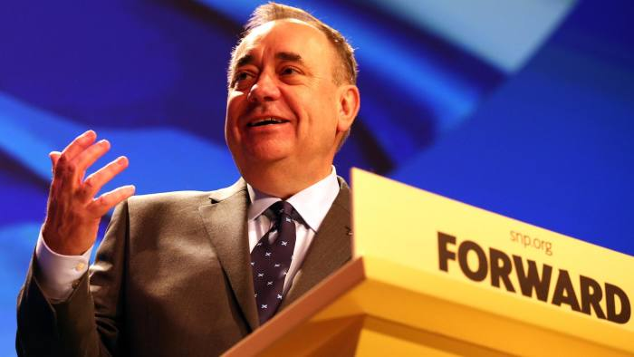 First Minister Alex Salmond makes a speech at the SNP Spring Conference in Aberdeen. PRESS ASSOCIATION Photo. Picture date: Friday April 11, 2014. See PA story POLITICS SNP. Photo credit should read: Andrew Milligan/PA Wire