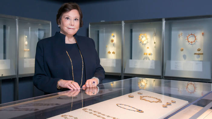 Susan Kaplan at the Musuem of Fine Arts Boston, MA for use by Financial Times of London in watches, jewelry publication