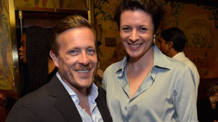 Photographer Scott Schuman and Garance Dore at the Gucci beauty launch event hosted by Frida Giannini on June 4 2014 in New York City