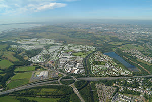 CGI of how the 1,060-acre site will look in 20 years