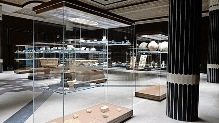 The interior of the new Basra Museum of Antiquities