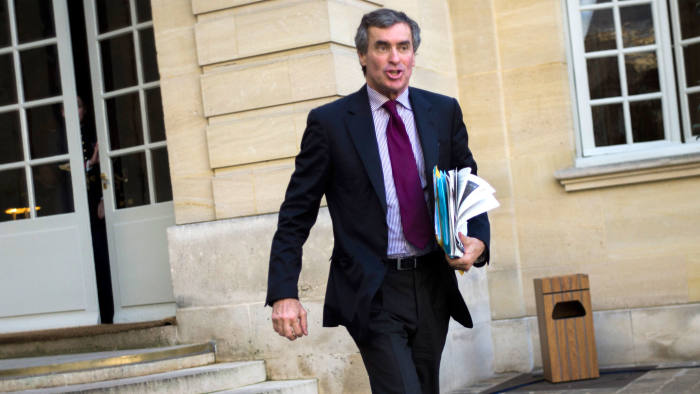 French Junior Minister for Budget Jerome Cahuzac leaves Hotel Matignon in Paris