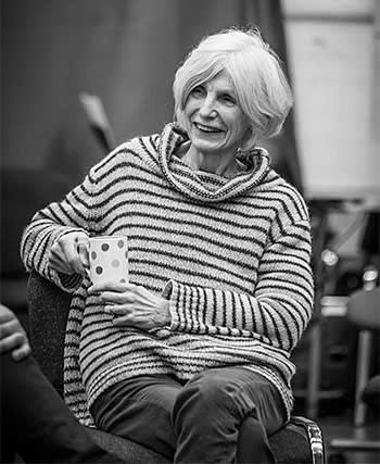 Caryl Churchill at rehearsals