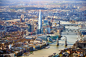 The Shard, close to London Bridge, site of the first Thames crossing