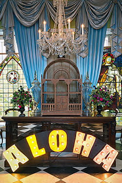 'Aloha' sign on sale in the Parlour