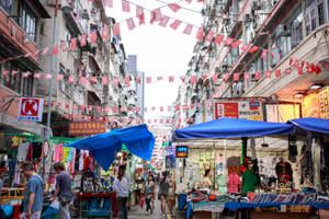 Temple Street in Jordan, Hong Kong