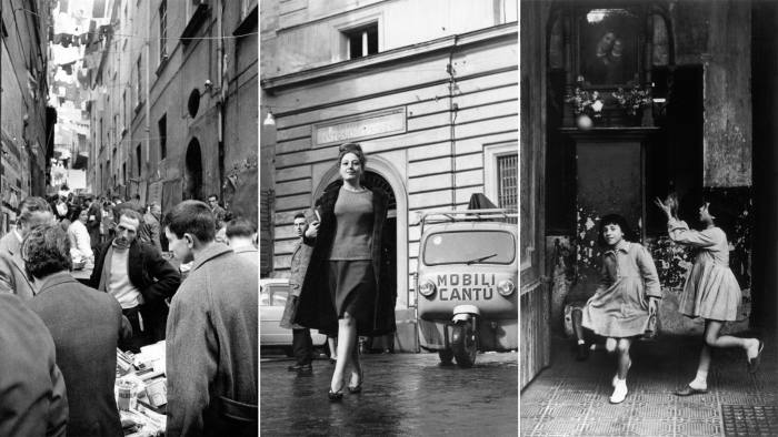 Scenes of Naples in the 1950s and 1960s. The city provides the setting for Ferrante's Neapolitan quartet