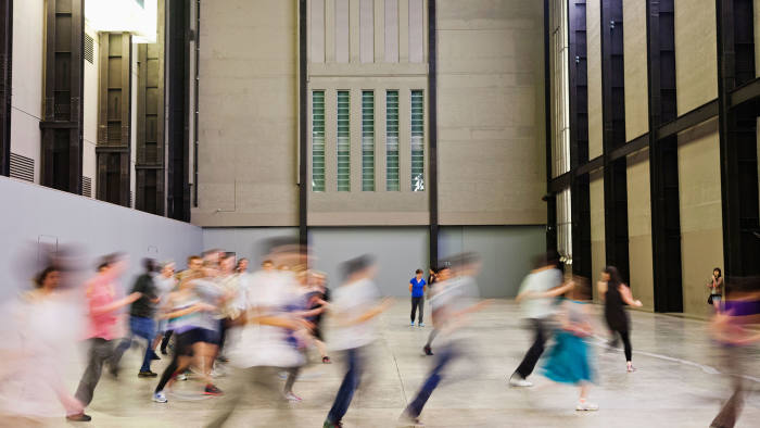 Tino Sehgal's installation 'These Associations' at Tate Modern in 2012