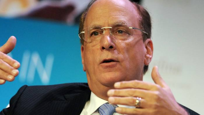 "Key Speakers At The Securities Industry & Financial Markets Association (SIFMA) Annual Meeting...Laurence ""Larry"" Fink, chief executive of BlackRock Inc., speaks at the Securities Industry and Financial Markets Association (SIFMA) annual meeting in New York, U.S., on Tuesday, Nov. 12, 2013. Fink said the U.S. Federal Reserve should start reducing its unprecedented asset purchases next month or risk creating a bubble. Photographer: Peter Foley/Bloomberg"