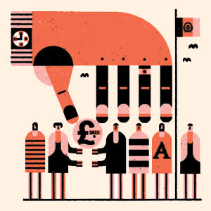 'How to give money away' illustration