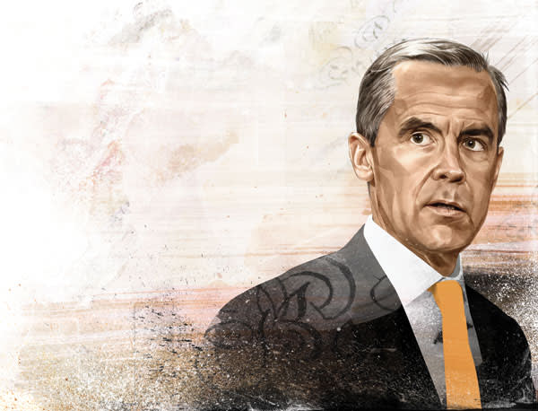 Illustration by Hellovon of Mark Carney