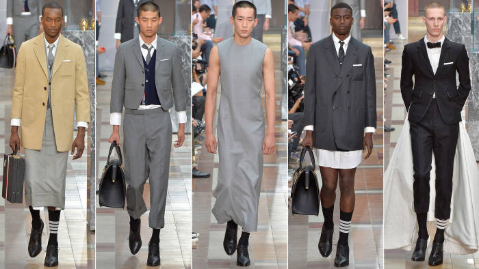 1d1a2645c1e Why do men wear men's clothing? The big question at Thom Browne ...