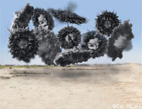 'Black Ceremony' explosion event (2011) by Cai Guo-Qiang