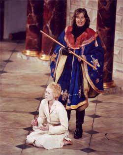Vanessa Redgrave as Prospero, Geraldine Alexander as Ariel in 'The Tempest' (Shakespeare's Globe, 2000)