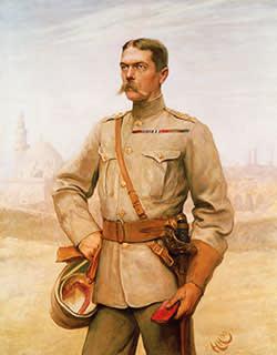 Kitchener depicted in 'Horatio Herbert Kitchener, 1st Earl Kitchener of Khartoum' (1890)