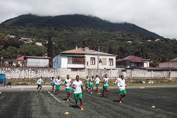 Somaliland team training in Abkhazia for the World Cup of Unrecognized States 2016