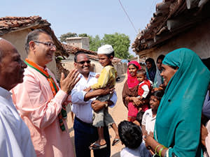 BJP candidate Jayant Sinha campaigns in rural Jharkhand, an area beset by poverty