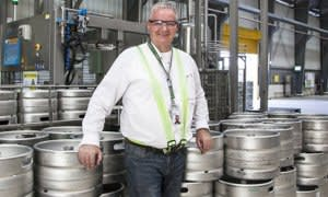 Donald Otten, Supply Chain Director, in the Heineken Brewery in Hmawbi Township, northwest of Yangon.