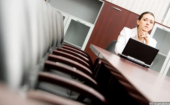 Woman executive in a boardroom