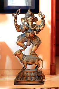 Brass statue of the Hindu god Ganesha