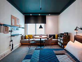 One of the Ace Hotel's bedrooms