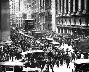 The great crash. New York Stock Exchange, October 1929