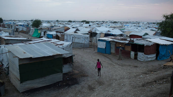 A United Nations refugee camp, now home to about 30,000 people fleeing the civil war, in Malakal, South Sudan
