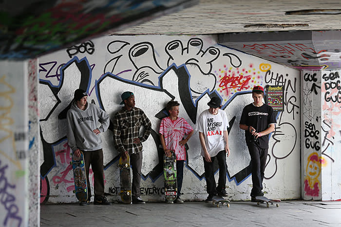 The Southbank Centre skate park, near the National Theatre