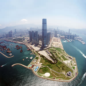 Aerial view of West Kowloon Cultural District