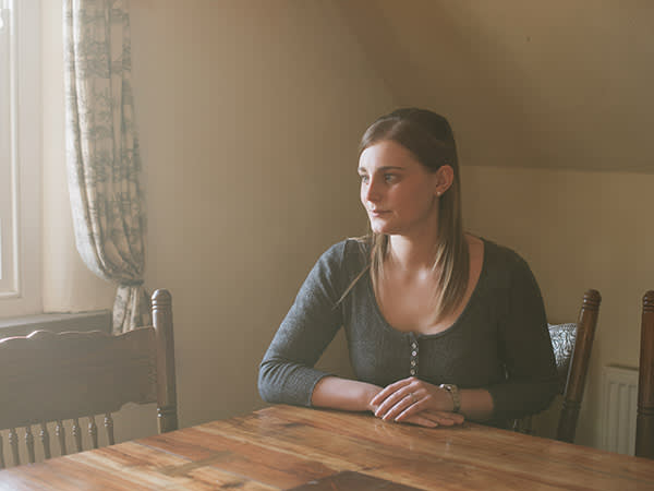 Emma Boyes at home in Whitby