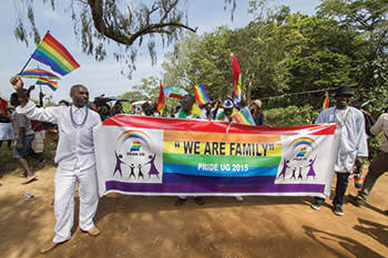 Pride in Entebbe, Uganda, in August last year